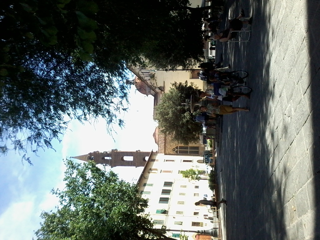 Santo Spirito square, 1,5 km.