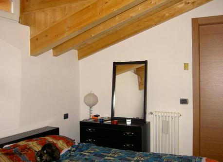 Our bedroom, on a mezzanine