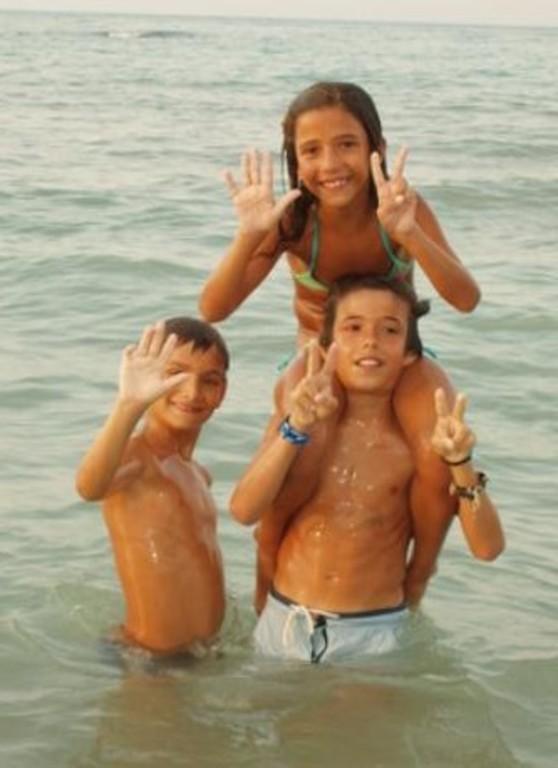i bambini al mare