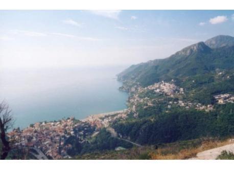you can see Vietri sul Mare and Raito