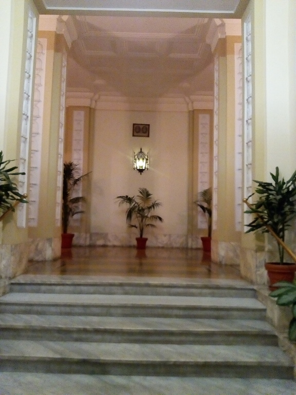 The entrance hall of the building (front)