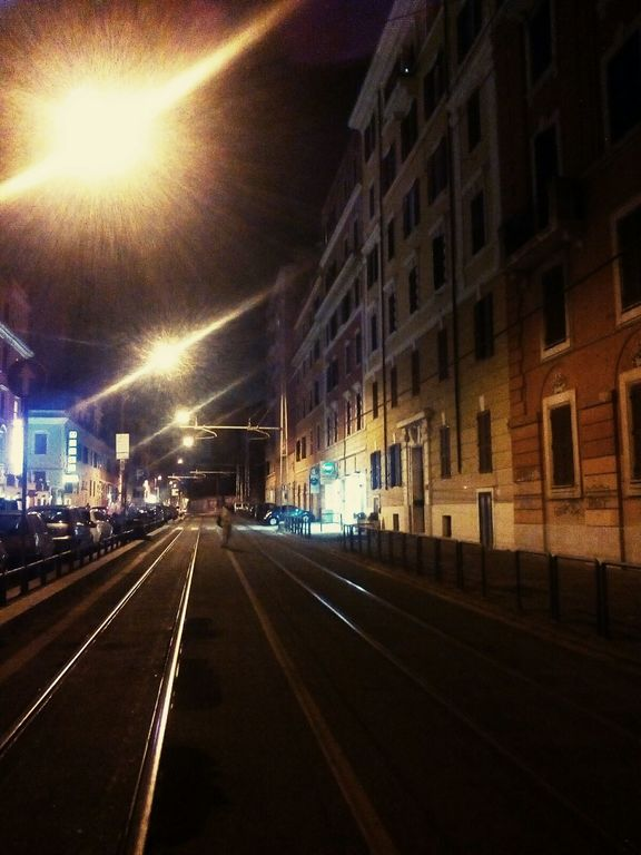 Via Giolitti by night