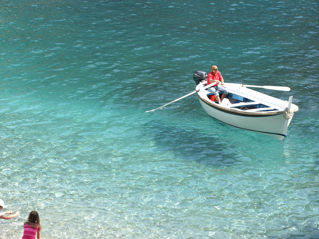 Clear waters in San Fruttuoso