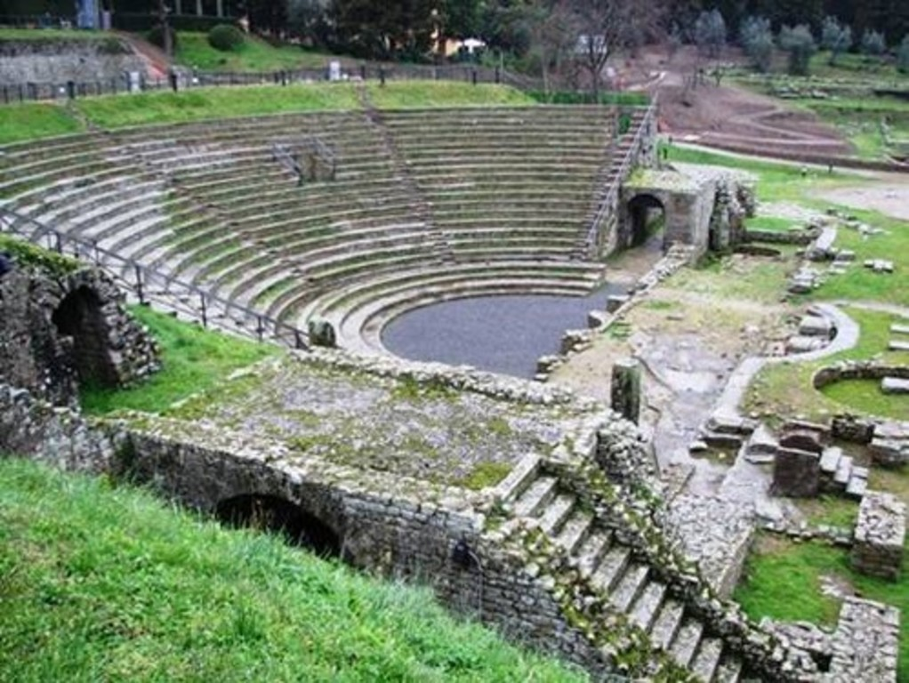 ancient roman theatre in the near Fiesole