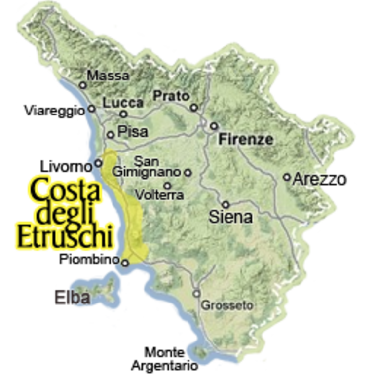 Etruscan Coast; Castiglioncello is 20 Km south Livorno
