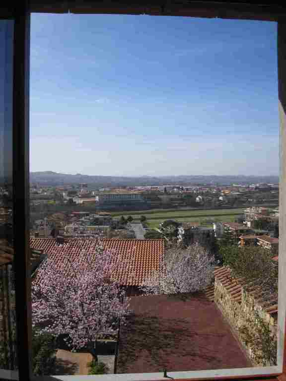 "view of the Medici villa ""Ambrogiana"" in Montelupo, from the 2nd bedroom window"
