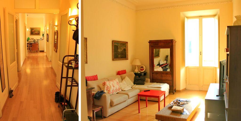 Vista del corridoio d'ingresso e salone