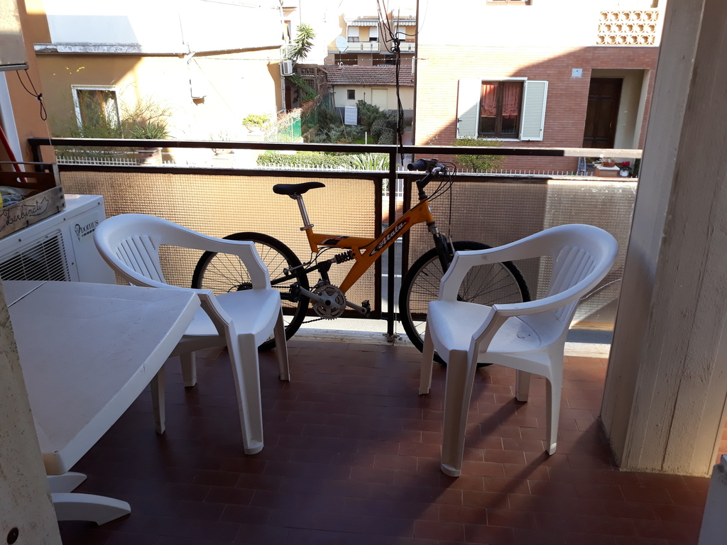 Balcony with bike