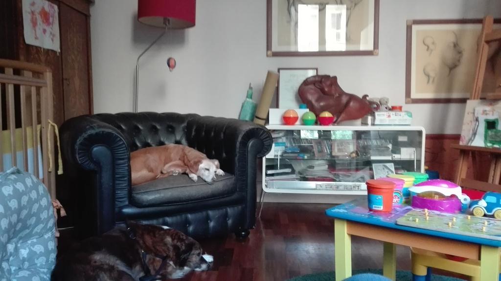 Camera per bimbi con lettino e puf-letto singolo