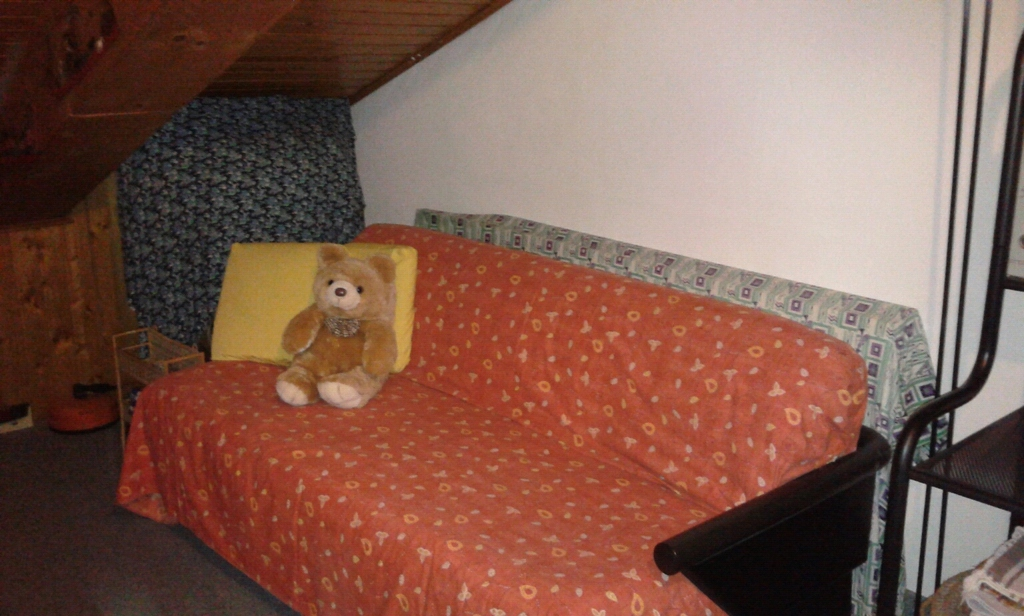 Spare double bed