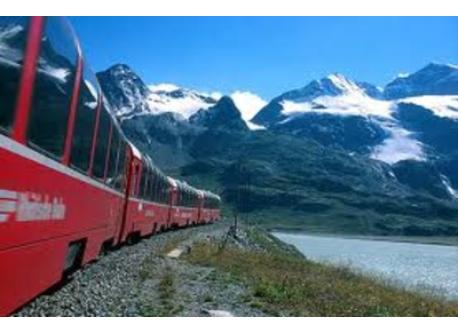 Bernina Train from Tirano to St. Moritz