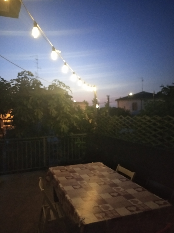a summer night on the roof