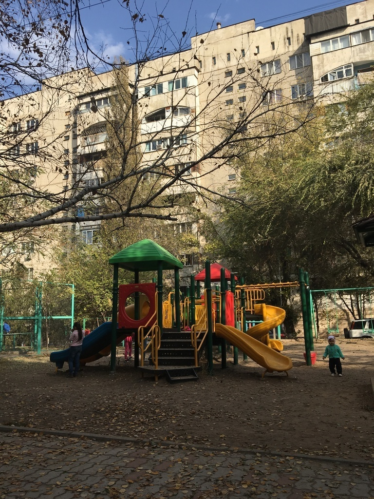 Play-ground in the yard (apartment)