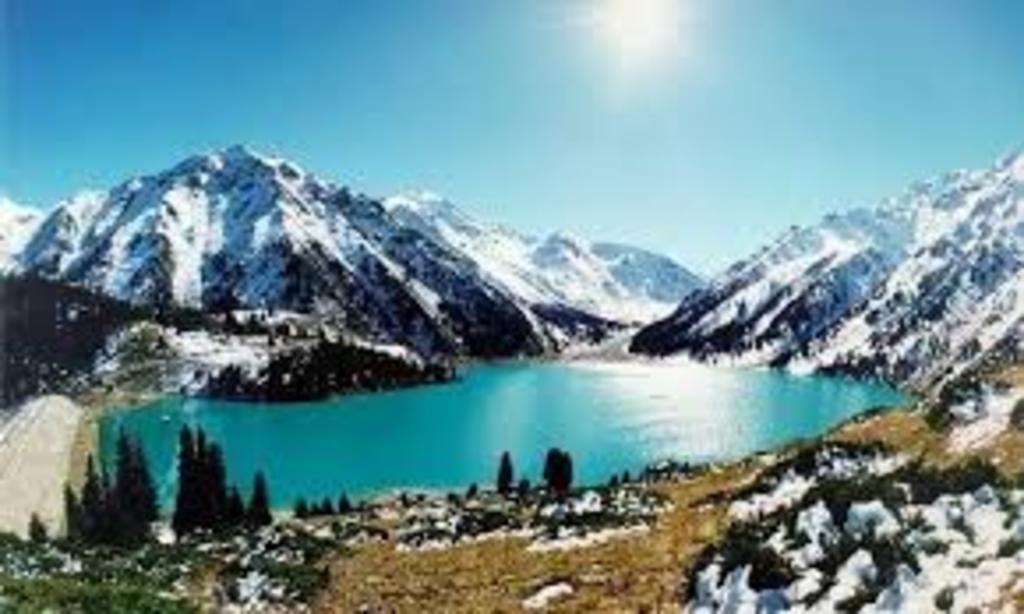 High-mountain lake BAO