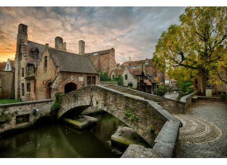 One of the many picturesque views in Bruges