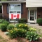 Our front door on Canada Day