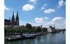 Dom und Donau von Regensburg, Stadtzentrum, City