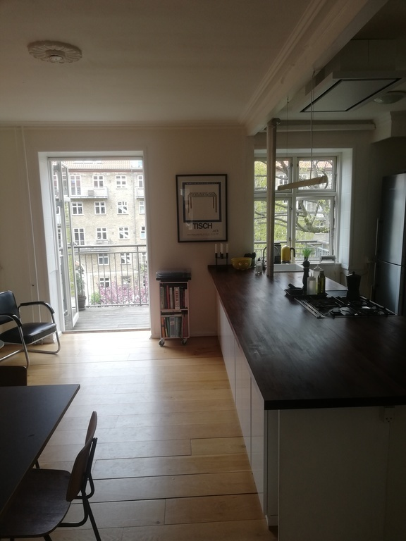 Kitchen with exit to balcony number 1