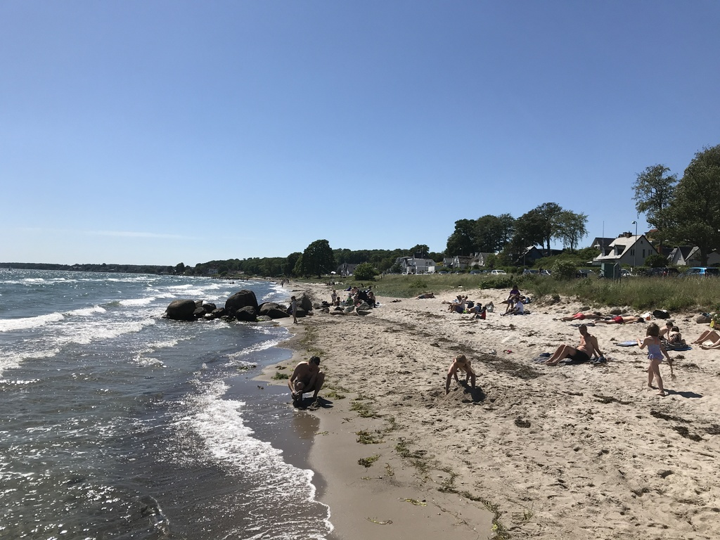 Snekkersten Beach (5 min walk). Great child friendly beach