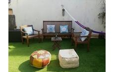 Garden / Jardín de 100 m2... Muy soleado!