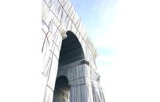Christo's wrapped Arc de Triomphe