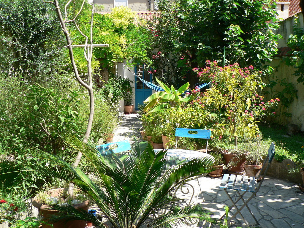 the garden seen from the terrace