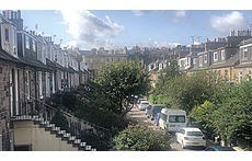View from Edinburgh apartment