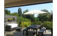 The deck in summer