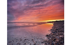 Sunset on Worthing beach 😍