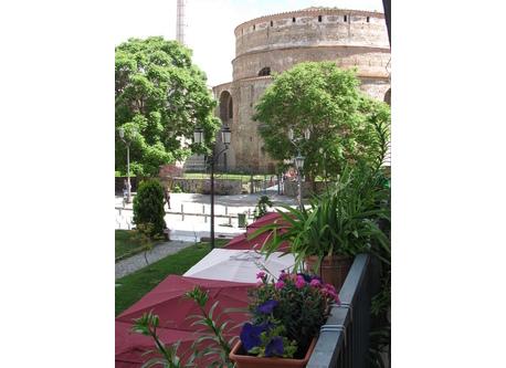 Balcony view (right) of the historic center (Rotunda)