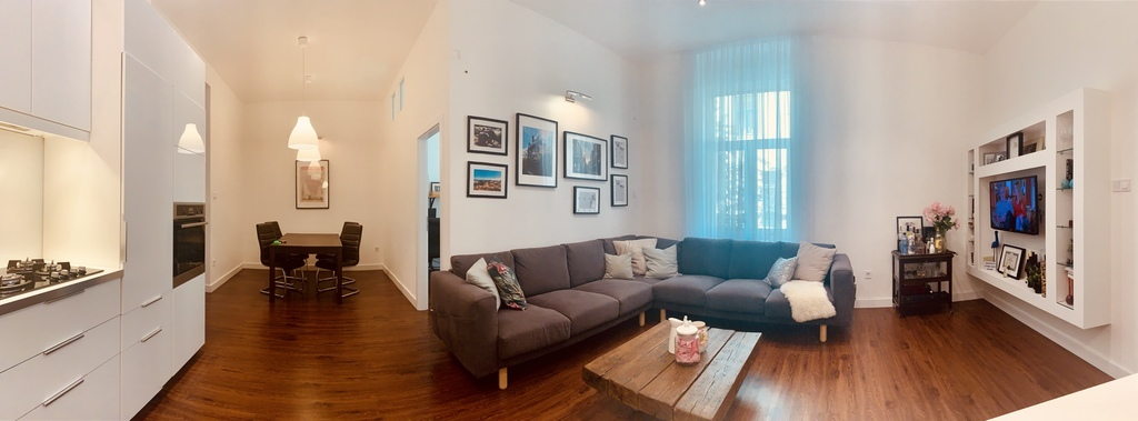 Panorama of the living area