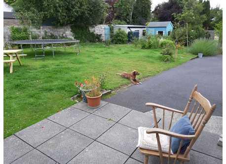 Back garden from back door