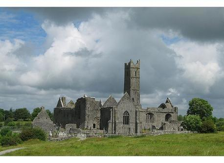 Quin Abbey is a ten minute walk from our house
