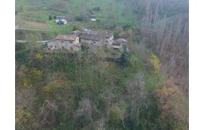 the small hamlet seen from the drone.