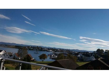 View from the lower balcony, towards the fjords
