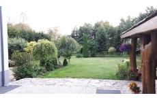 A garden with a gazebo