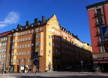 Our house in central Stockholm.