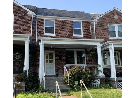 Our row house is from 1937 and part of the historically preserved Kingman Park neighborhood.