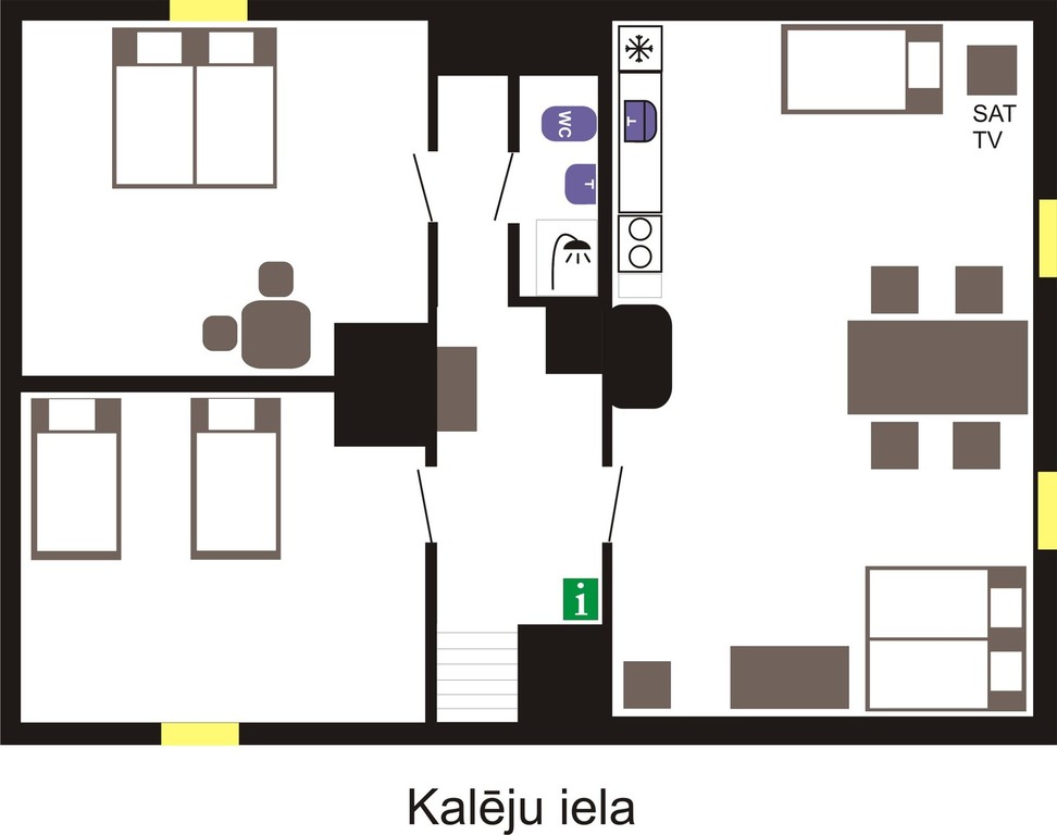 Room layout in Kaleja maja
