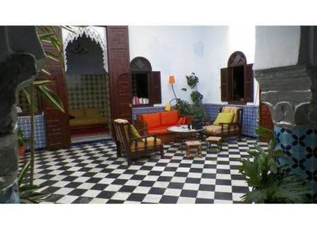 A traditional Moroccan home, called a 'riad', is build around a central, sunny courtyard.