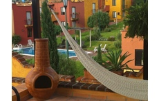 Classic View from Rooftop with Chimenea and hammock