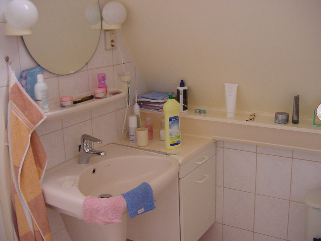 Corner master bathroom