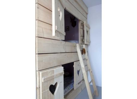 Childrens Room with Wooden Bunk Bed