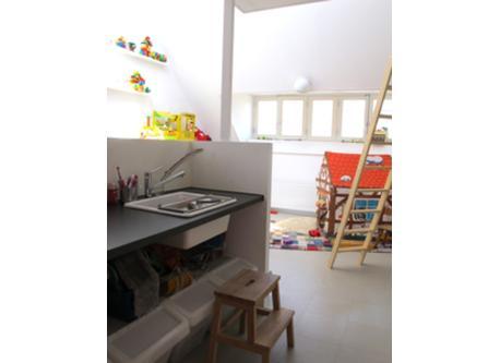 Washing Area overlooking Play Room