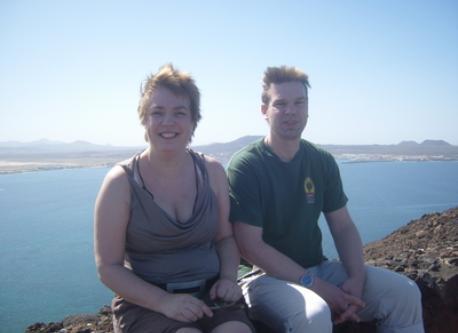 Corina en Bert on holiday
