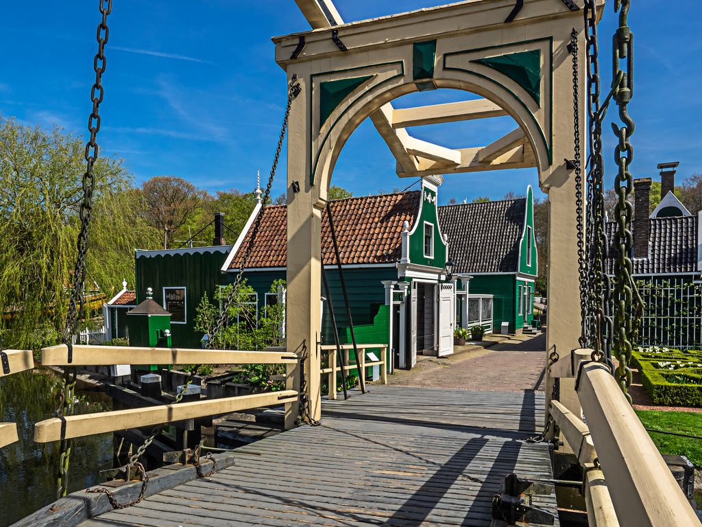 The famous Open Air Museum in Arnhem, where you can visit and see The Netherlands as they used to be.