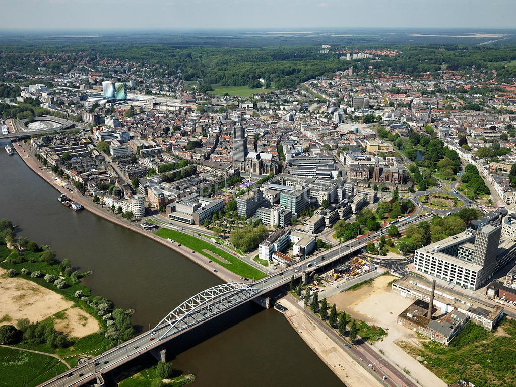 Arnhem, the capital of the province of Gelderland, (150.000 inhabitants) with plenty of green in its surroundings.