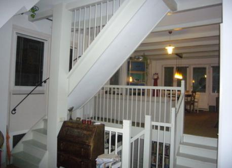 the stairs inside the house 3 stores