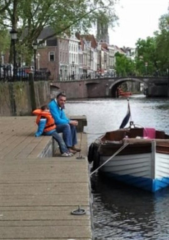 Utrecht gracht with Johan & Julian
