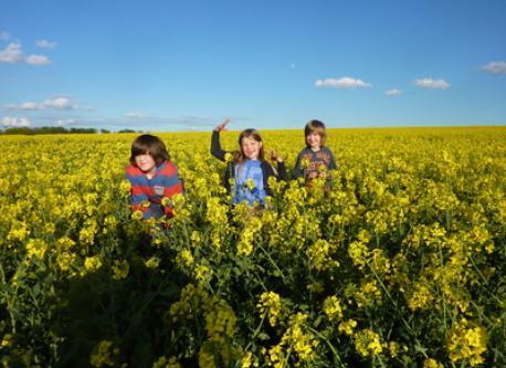 The three kids near Verdun 2012.